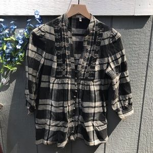 Joie Tops - Joie- Plaid Flannel Luciana Tunic blouse